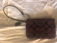 Brown monogrammed coach leather wristlet Los Angeles, 90024