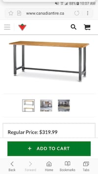 Work Bench with stools