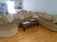 Comfortable 7 piece sectional