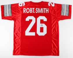 Ohio State Robert Smith Hand Signed Away (Scarlet) Jersey
