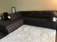 Brown sectional sofa with pull out full size bed Miami Lakes