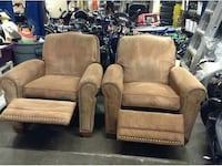 two brown suede recliner chairs Surrey, V3W 2L2
