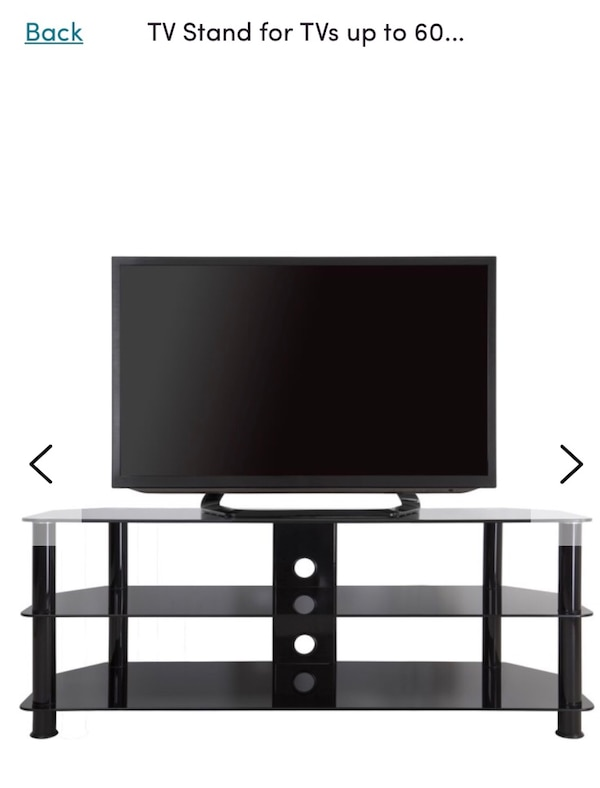 wholesale dealer a4fbb ee9b2 Glass TV table up to 55 inch TV