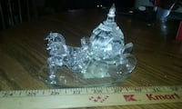 clear glass carriage with horse figurine Berwick, 18603