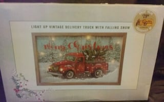 Light Up Vintage Delivery Truck picture