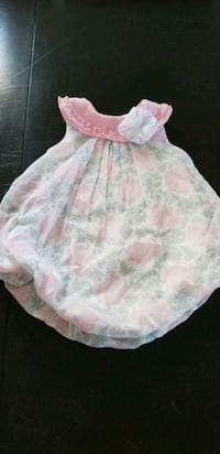 girl's white and pink floral sleeveless dress 475 km