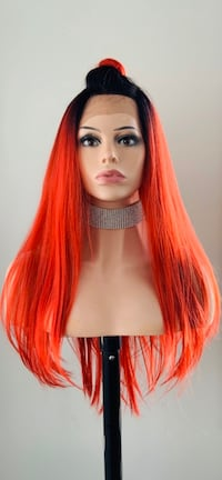 Very Pretty Ombre Red 13x3 Lace Front Wig Calgary, T2P