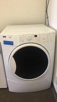 white front-load Kenmore elite electric dryer  Concord, 94520