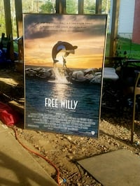 Vintage Free Willy Collectible Movie Poster  Bailey's Crossroads, 22041