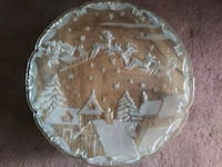 "16"" Crystal Christmas Platter Washington"
