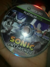 Sonic Unleashed Xbox360 game Winnipeg, R2C