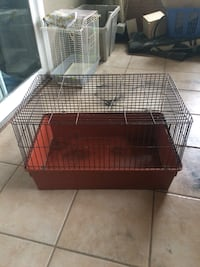 Red and white pet cage Zorra, N0J 1J0