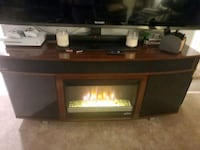 TV stand with fireplace and bluetooth speakers City of Manassas, 20110