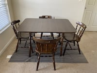 Excellent wooden dining table with 4 chairs Herndon, 20171