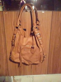 brown leather 2-way handbag Calgary, T2B 2C7