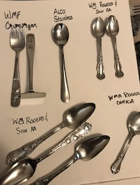 Antique Silver and silver plated flatware