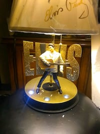 "Elvis Presley ""Golden Legend"" Lamp With Illuminating Base    Edmonton, T5X 3R1"