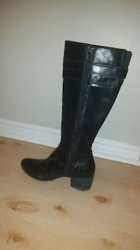 Black leather lined winter boot London, N6J 4X7