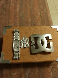two silver-colored New York watch link strap and silver-colored DC emblem Winnipeg, R2P 0A2