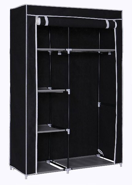 brukt brand new portable wardrobe storage organizer with metal rh se letgo com