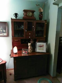 brown wooden TV hutch with flat screen television Salem, 44460