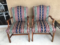 """Beautiful pair of chairs. Great condition! 24"""" wide.  Asking $100 for the pair. San Marcos, 92078"""