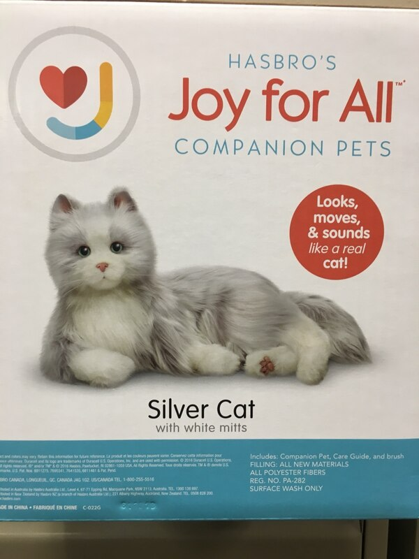 JOY FOR ALL Companion Pet Silver Cat (Orange Tabby version available as  well )