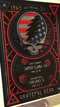 "GD50 ""Fare The Well"" Memorabilia - the American Steely was available at both weekends and limited print of 2000 overall. Hand numbered print on this is 591/2000. Bought in Chicago, July 4 or maybe 5 or maybe 6 of 2015. Peace! Open to any offers, within re Bethesda, 20817"