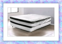 queen double pillow top mattresses with box spring  Silver Spring, 20906