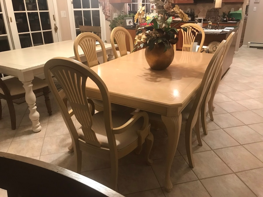 dining room table with two extension centerpieces rh tr letgo com