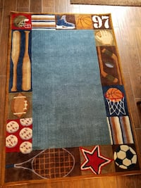 Like-new sports rug for boy's room/rec room Gaithersburg, 20886