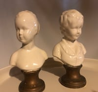 Vintage Miniature Bust Girl and Boy Cincinnati