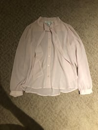 Soft pink work blouse from forever 21, size S.