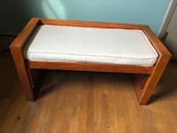 Wooden bench with cushion Waukegan, 60085