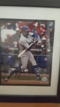Cubs Soriano C0A Autographed nice framed MLB piece Elk Grove Village, 60007