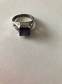 Sterling silver and simulated blue sapphire Keswick, L4P 3P2