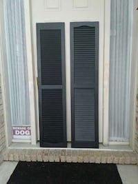 Vantage Black louvered Vinyl Exterior Shuttets Richmond, 48062