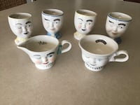 Limited Edition Bailey's face cups with sugar and creamer wink cups. Frederick, 21702