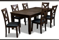 used brick six chair Talia dining table extendable part included Toronto, M4C 5L8
