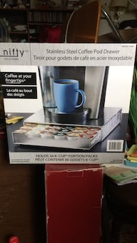 Nifty Stainless Steel Coffee Pod Drawer