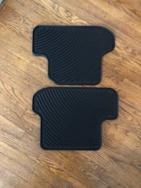 Floor Mats, 2 Rear, Rubber