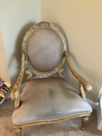 Vintage chair with gray leather Jackson, 08527