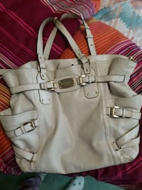 women's white leather tote bag Richmond, V6X 1M3
