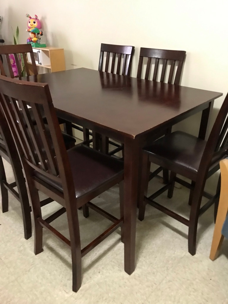 used counter height table with 6 chairs for sale in newark letgo rh gb letgo com