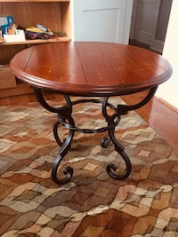 Ethan Allen Versatile Round Table of Cherry Wood and Iron Falls Church, 22042