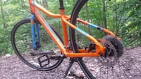 orange and blue hardtail mountain bike Toronto, M1B 5N6