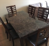Marble top dining set WITH 6 chairs Toronto, M3L 0E2