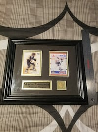 Lemieux Framed Cards and Pin  Georgina, L4P