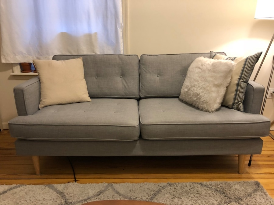 used small apartment sofa gray for sale in new york letgo rh us letgo com