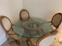 round glass dining table for 4 MIAMI